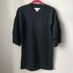 Planet Gold ruffle sleeve sweater dress